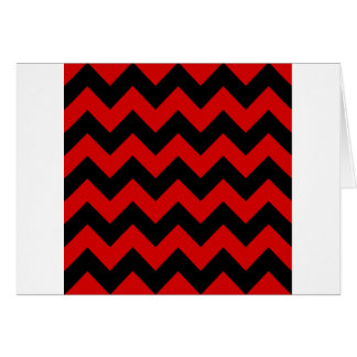 Zigzag I - Black and Rosso Corsa Cards