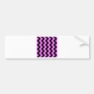 Zigzag I - Black and Ultra Pink Bumper Sticker