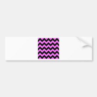 Zigzag I - Black and Ultra Pink Bumper Stickers