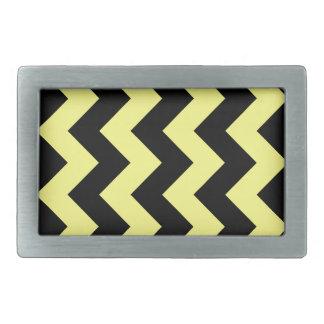 Zigzag I - Black and Yellow Belt Buckle