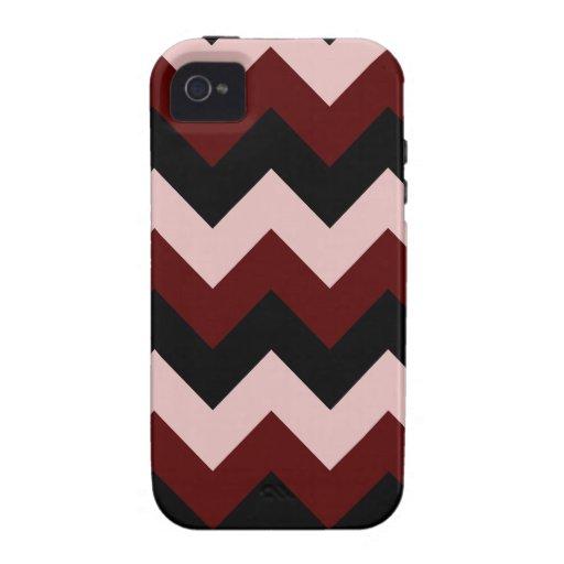 Zigzag I - Black, Dark Red and Pink