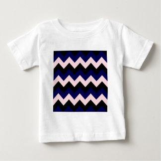 Zigzag I - Black, Pink and Dark Blue Baby T-Shirt
