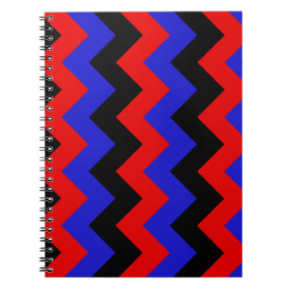 Zigzag I - Black Red and Blue Note Books