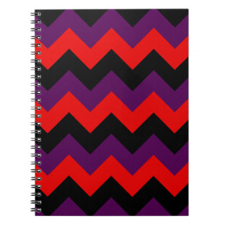 Zigzag I - Black Red and Violet Note Books