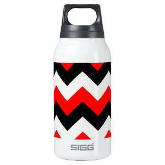 Zigzag I - Black, Red and Yellow Insulated Water Bottle