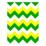 Zigzag I - Blanco, amarillo y verde Postal