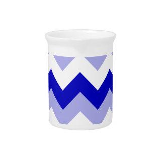 Zigzag I - Blanco, azul y violeta Jarras