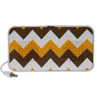 Zigzag I - Blanco, naranja y Brown Notebook Altavoces