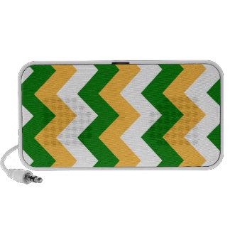 Zigzag I - Blanco, naranja y verde Laptop Altavoz