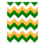 Zigzag I - Blanco, naranja y verde Postal