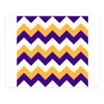 Zigzag I - Blanco, naranja y violeta Postal