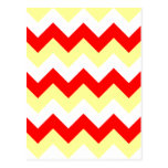 Zigzag I - Blanco, rojo y amarillo Postal