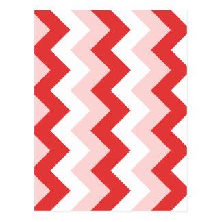 Zigzag I - Blanco, rojo y rosa Tarjeta Postal