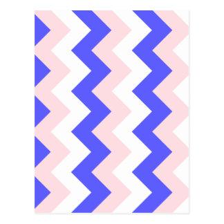 Zigzag I - Blanco, rosa y azul Tarjetas Postales