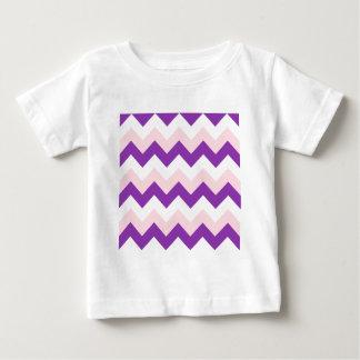 Zigzag I - Blanco, rosa y violeta Polera