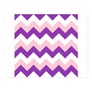 Zigzag I - Blanco, rosa y violeta Postales