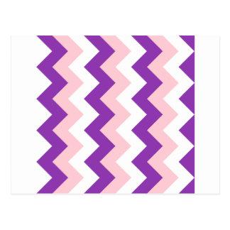 Zigzag I - Blanco, rosa y violeta Tarjetas Postales