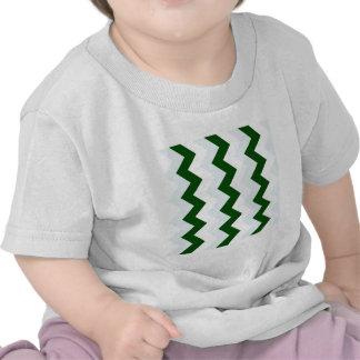 Zigzag I - Blanco, verde oscuro y azul claro Camiseta