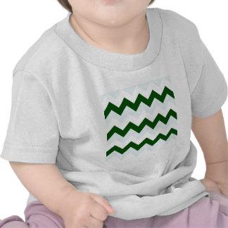 Zigzag I - Blanco, verde oscuro y azul claro Camisetas