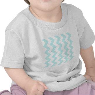 Zigzag I - Blanco y azul claro Camisetas