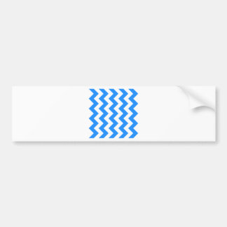 Zigzag I - Blanco y azul de Dodger Etiqueta De Parachoque