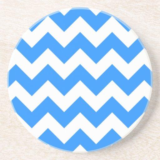 Zigzag I - Blanco y azul de Dodger Posavasos Para Bebidas