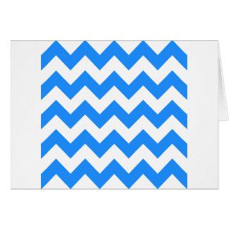 Zigzag I - Blanco y azul de Dodger Felicitacion