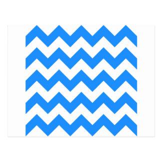 Zigzag I - Blanco y azul de Dodger Tarjeta Postal