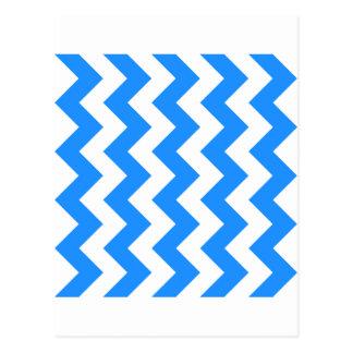 Zigzag I - Blanco y azul de Dodger Tarjetas Postales