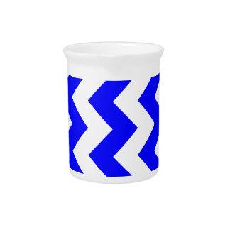 Zigzag I - Blanco y azul Jarrones