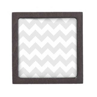 Zigzag I - Blanco y gris claro Cajas De Joyas De Calidad