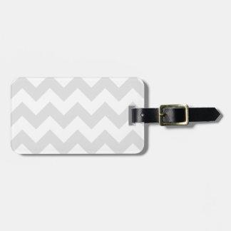 Zigzag I - Blanco y gris claro Etiqueta Para Equipaje