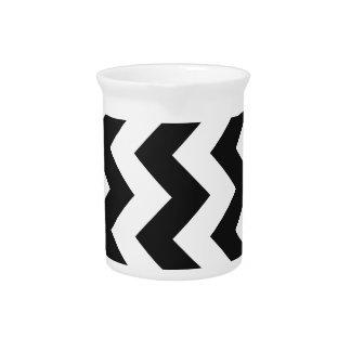 Zigzag I - Blanco y gris oscuro Jarra Para Bebida