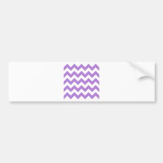 Zigzag I - Blanco y lavanda Pegatina Para Auto