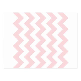 Zigzag I - Blanco y pálido - rosa Postales