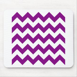 Zigzag I - Blanco y púrpura Alfombrillas De Raton