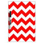 Zigzag I - Blanco y rojo Tableros Blancos