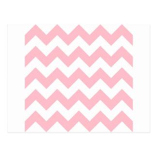 Zigzag I - Blanco y rosa Postales
