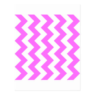 Zigzag I - Blanco y ultra rosa Tarjetas Postales