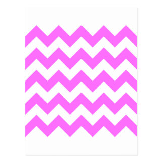 Zigzag I - Blanco y ultra rosa Tarjeta Postal