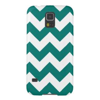 Zigzag I - Blanco y verde del pino Carcasas De Galaxy S5