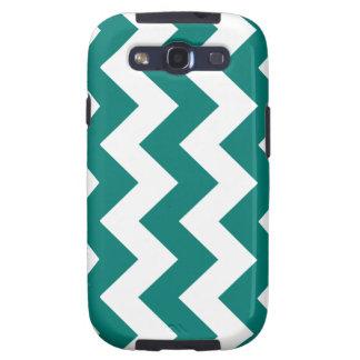 Zigzag I - Blanco y verde del pino Samsung Galaxy S3 Carcasa