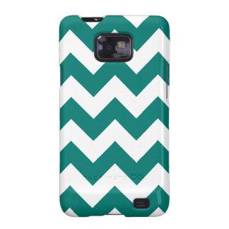 Zigzag I - Blanco y verde del pino Samsung Galaxy SII Fundas