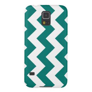 Zigzag I - Blanco y verde del pino Funda De Galaxy S5