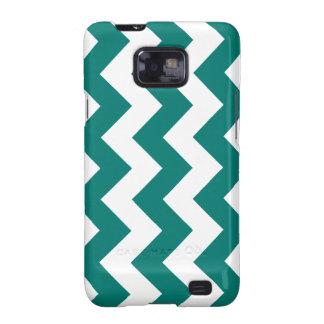Zigzag I - Blanco y verde del pino Samsung Galaxy S2 Fundas