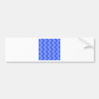 Zigzag I - Blue and Light Blue Bumper Stickers