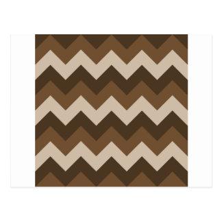 Zigzag I - Brown 3 Tarjeta Postal