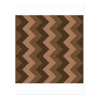 Zigzag I - Brown 4 Tarjetas Postales