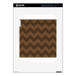 Zigzag I - Brown and Dark Brown iPad 3 Skin