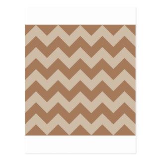 Zigzag I - Brown y marrón claro Postal